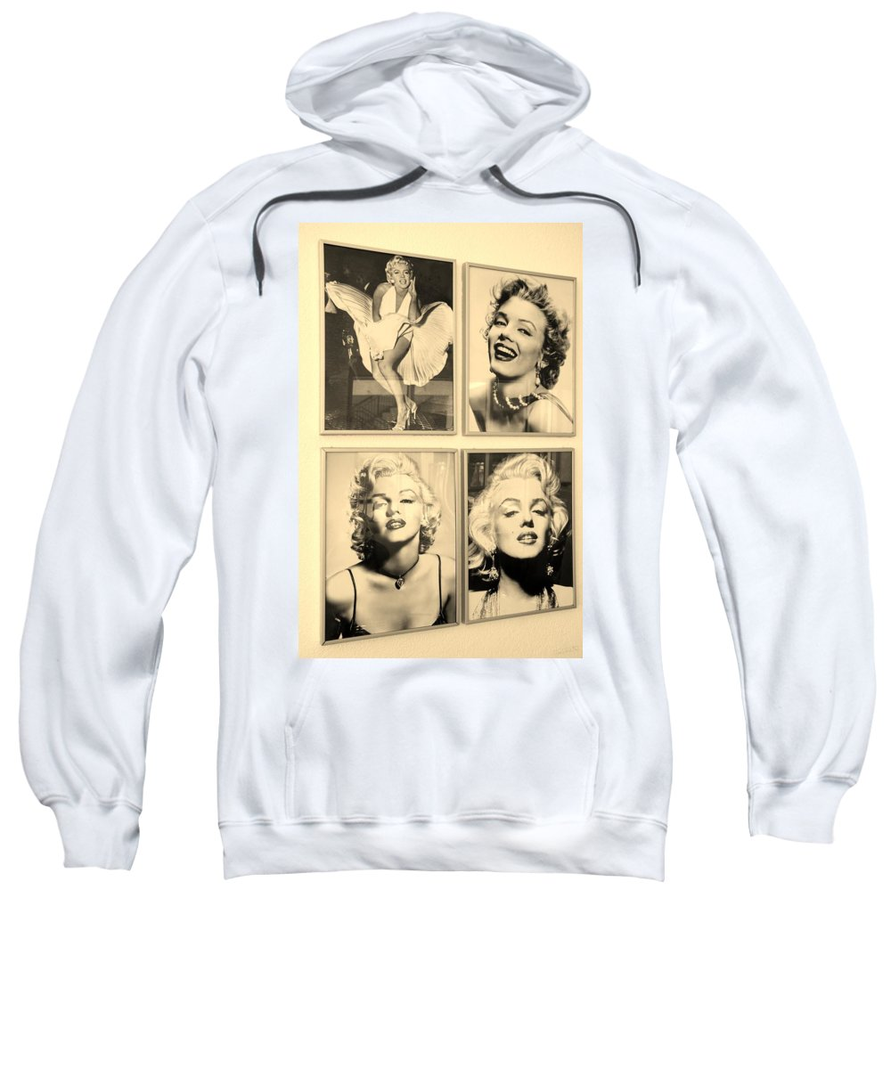 Marilyn Monroe Sweatshirt featuring the photograph M M by Rob Hans