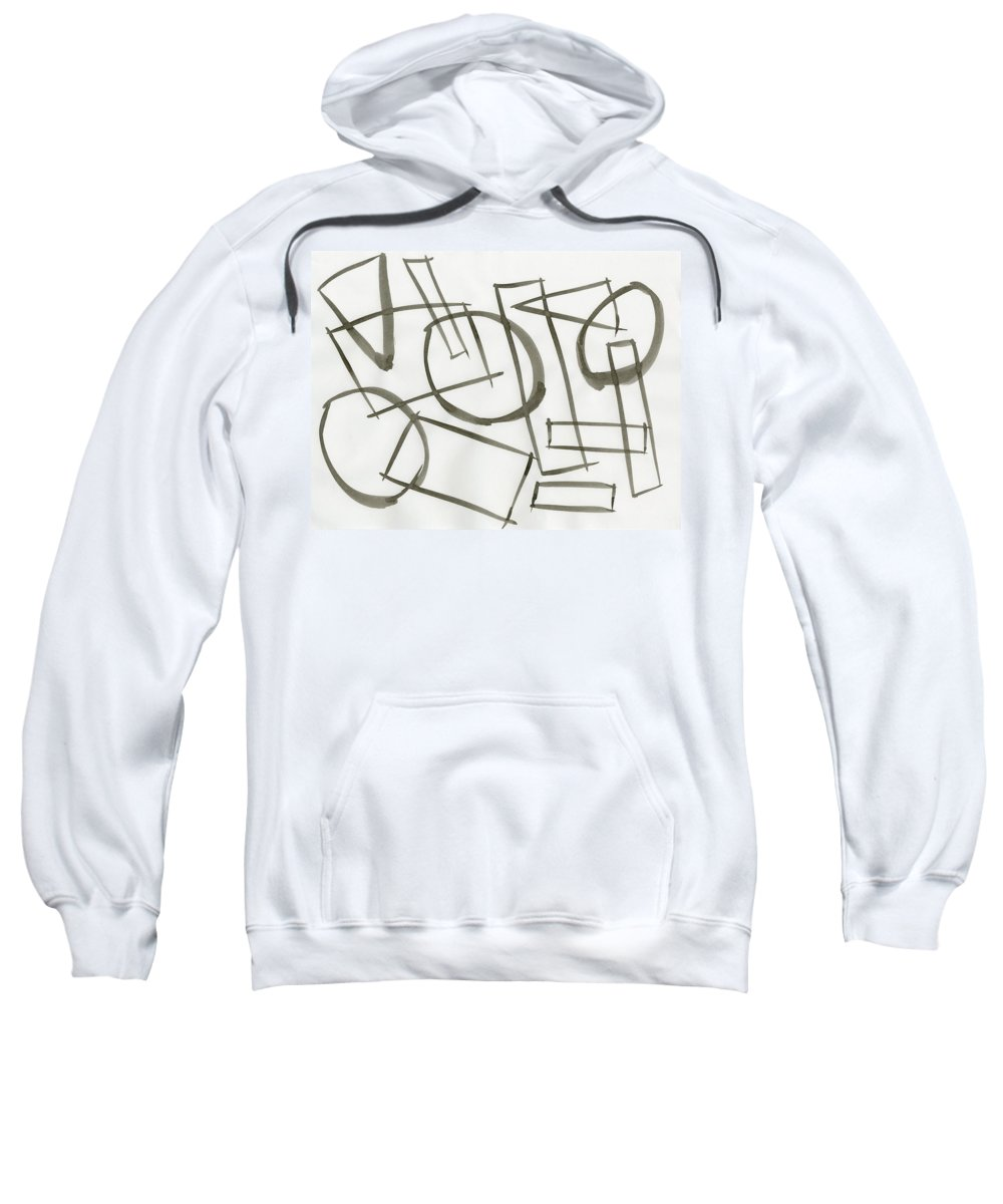 Machine Model State Sweatshirt featuring the painting Machine Model State by Taylor Webb