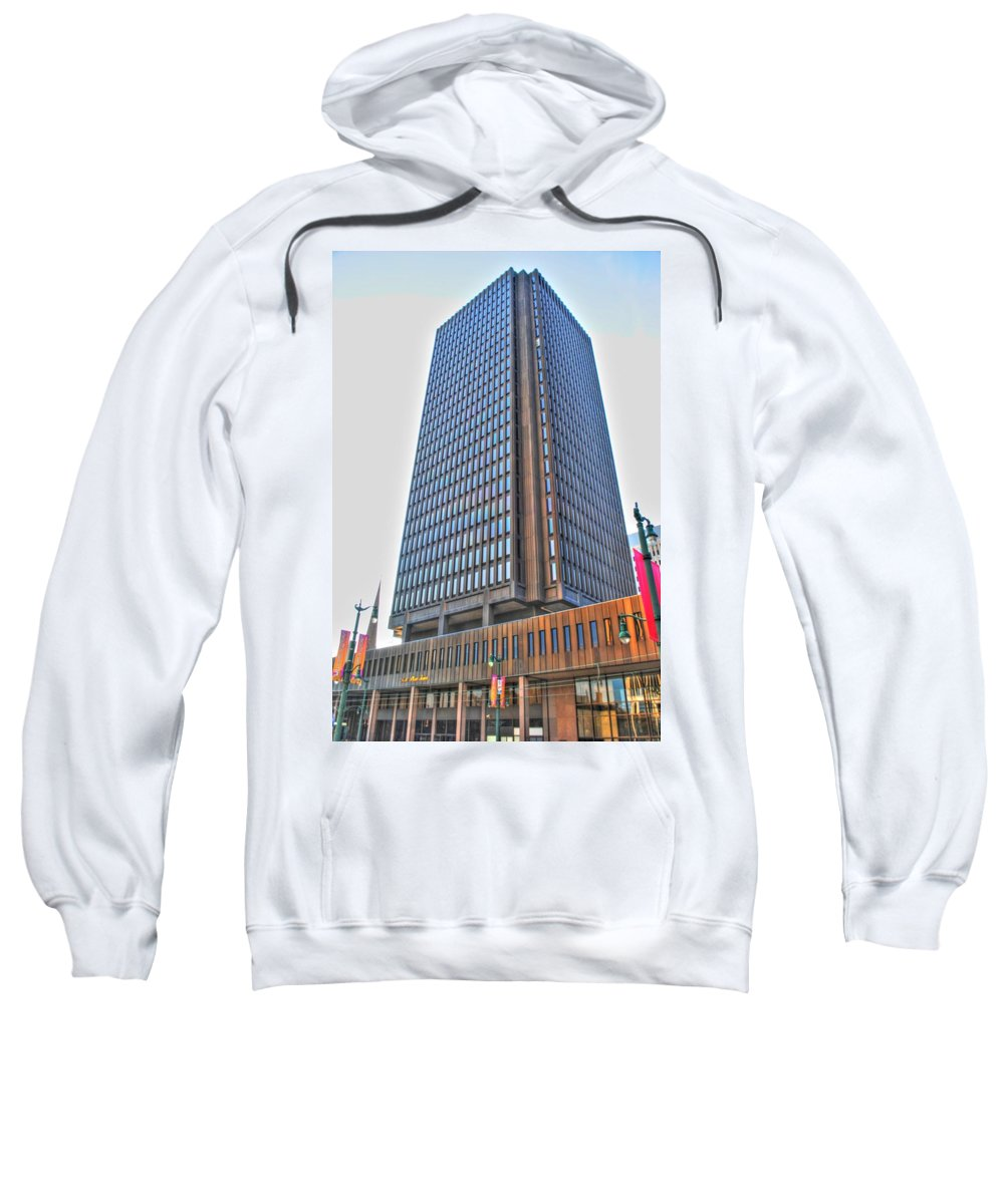 Sweatshirt featuring the photograph Main Place Tower by Michael Frank Jr