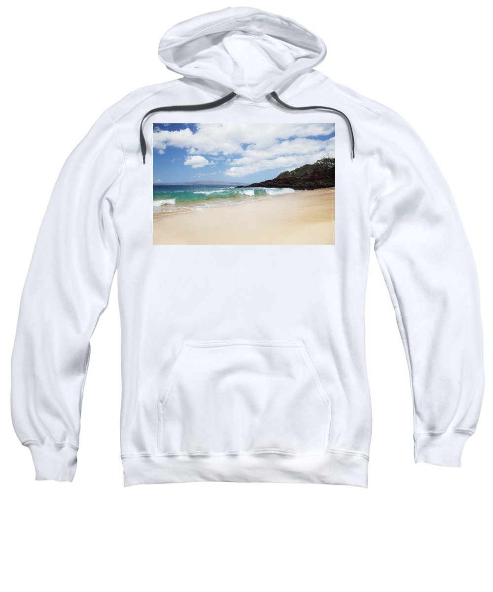 Beach Sweatshirt featuring the photograph Makena Coast by Jenna Szerlag