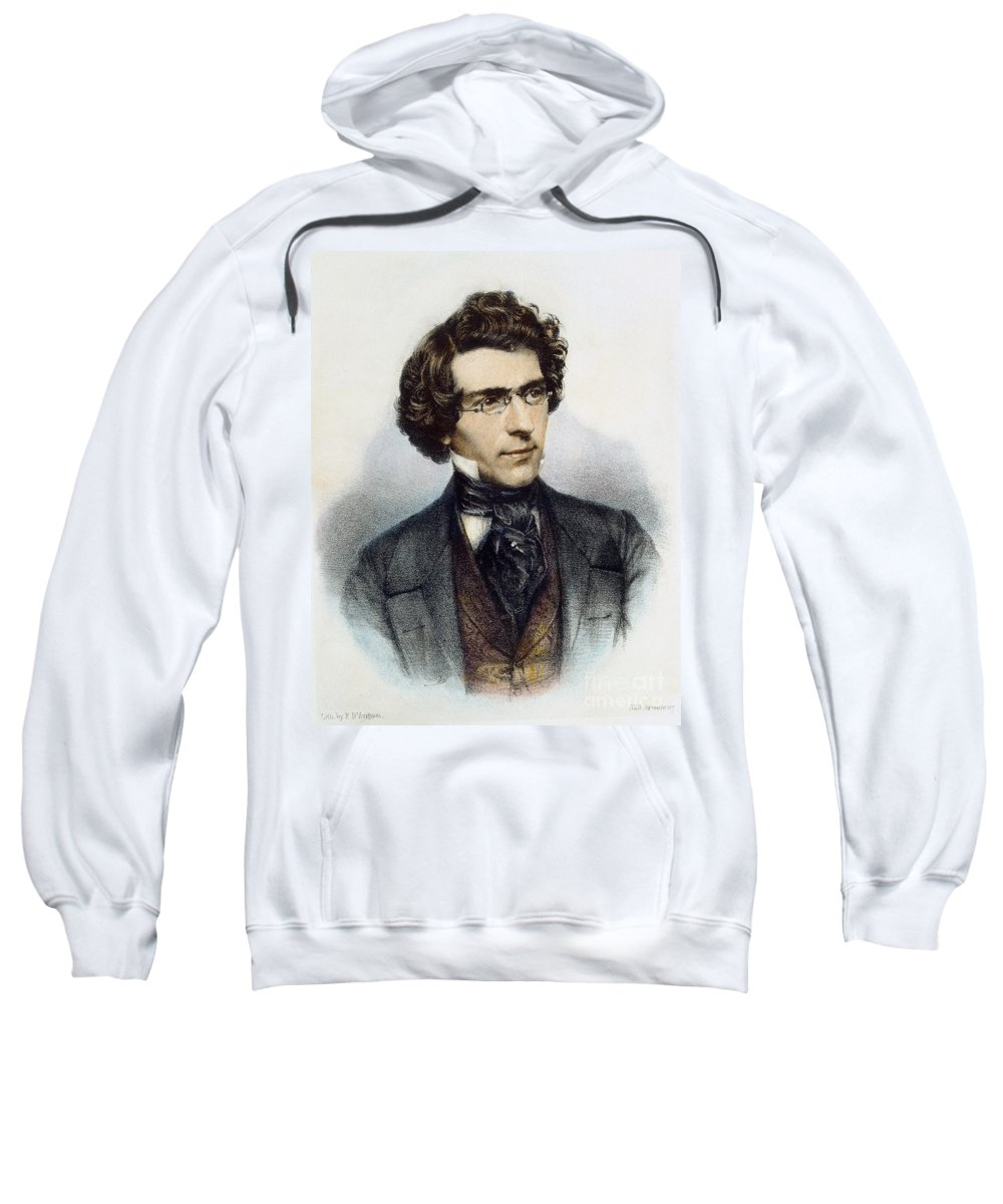 1850 Sweatshirt featuring the photograph Mathew Brady (1823?-1896) by Granger