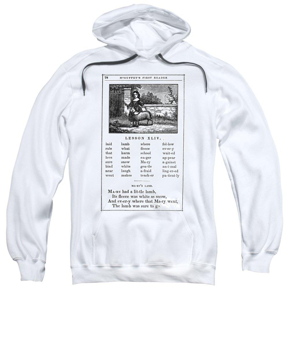 1853 Sweatshirt featuring the photograph Mcguffeys Reader, 1853 by Granger