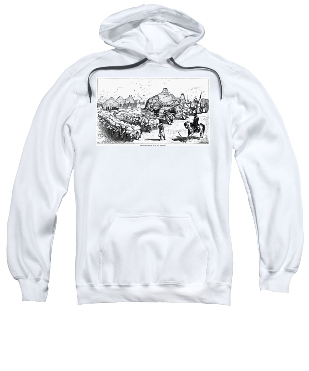 Cart Sweatshirt featuring the photograph Medieval Tartar Huts by Granger