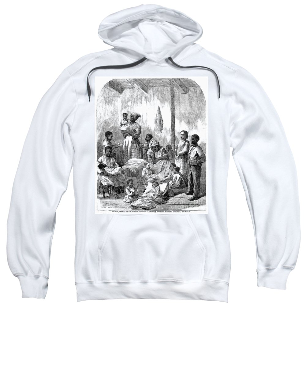 1870 Sweatshirt featuring the photograph Memphis: Black Orphanage by Granger