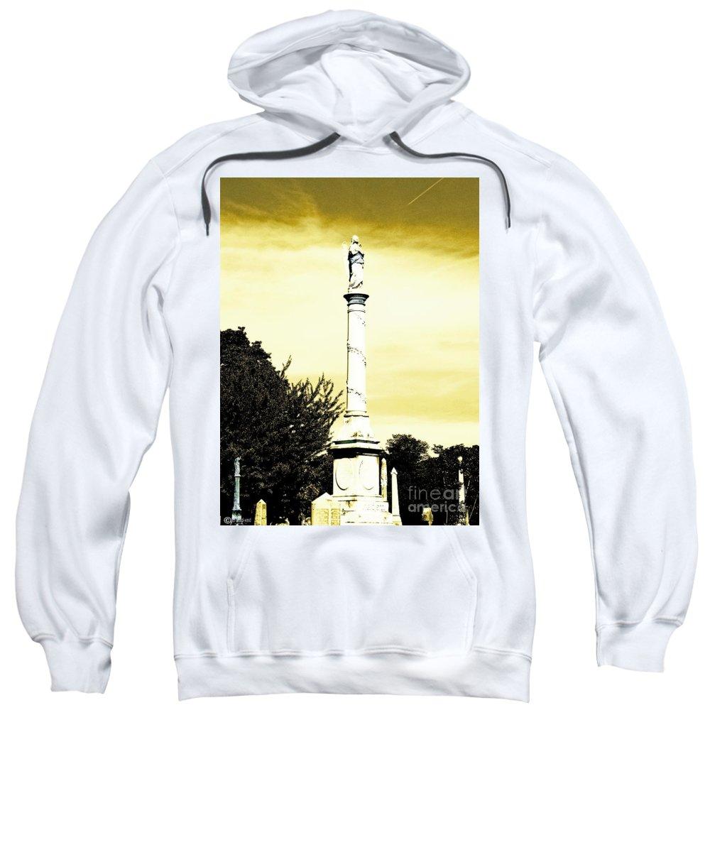 Cemetary Sweatshirt featuring the photograph Message by Lizi Beard-Ward