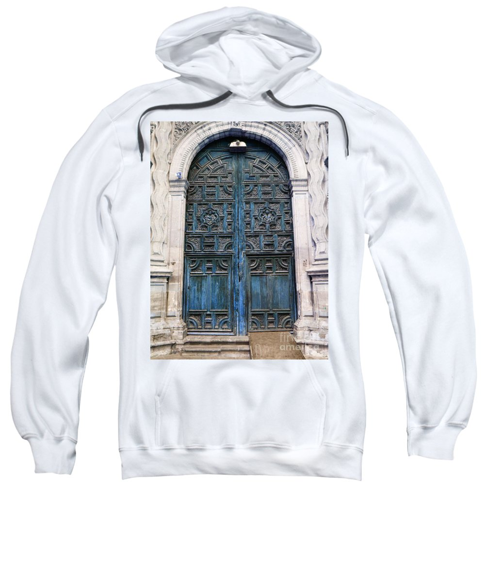 Mesoamerica Sweatshirt featuring the photograph Mexican Door 6 by Xueling Zou