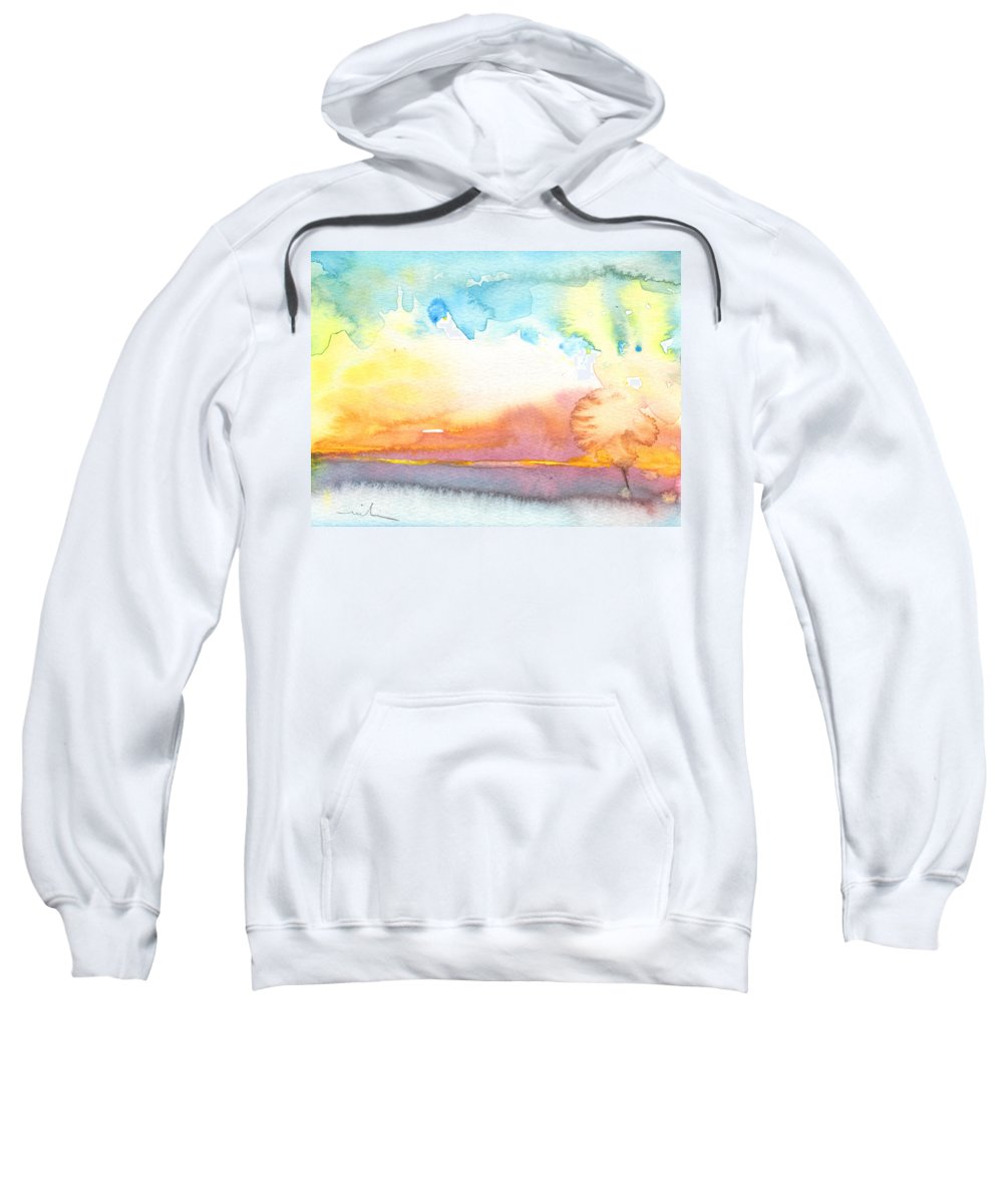 Watercolour Sweatshirt featuring the painting Midday 26 by Miki De Goodaboom