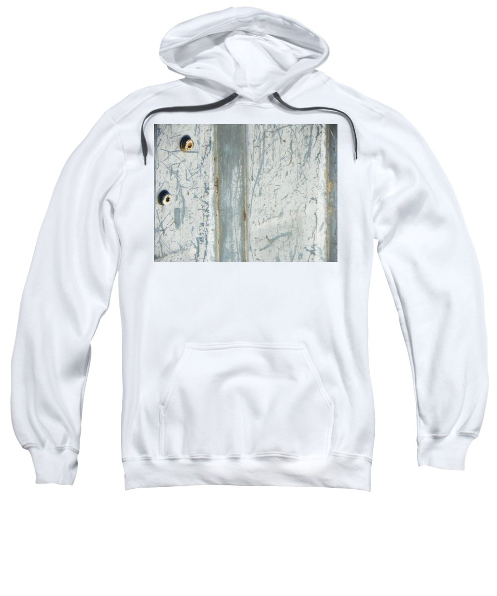 Abstract Sweatshirt featuring the photograph Minimalism With Two Bolts by Lenore Senior