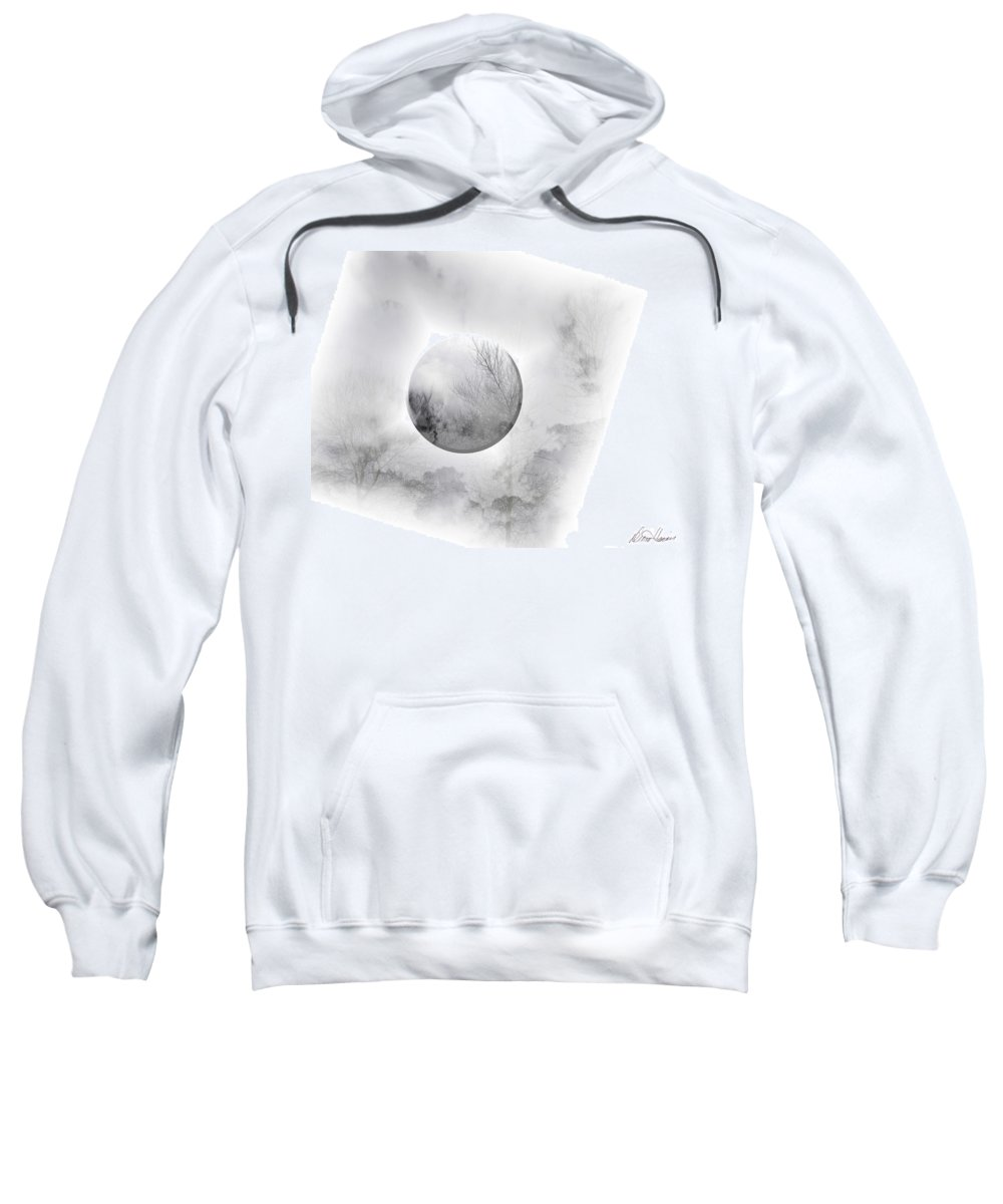 Moon Sweatshirt featuring the photograph Misty Moon by Diana Haronis