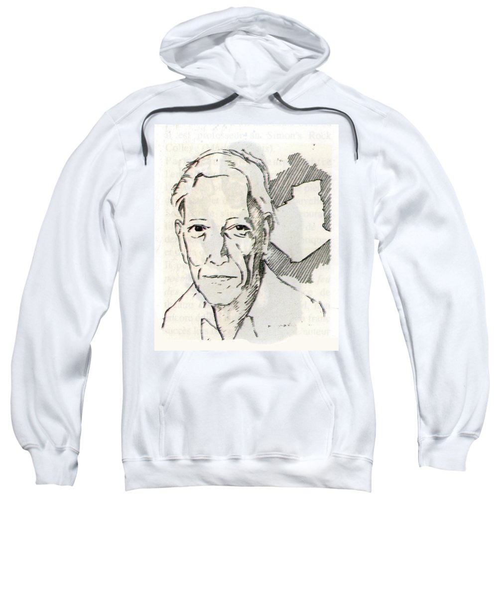 Mohamed Dib Sweatshirt featuring the painting Mohamed Dib by Emmanuel Baliyanga