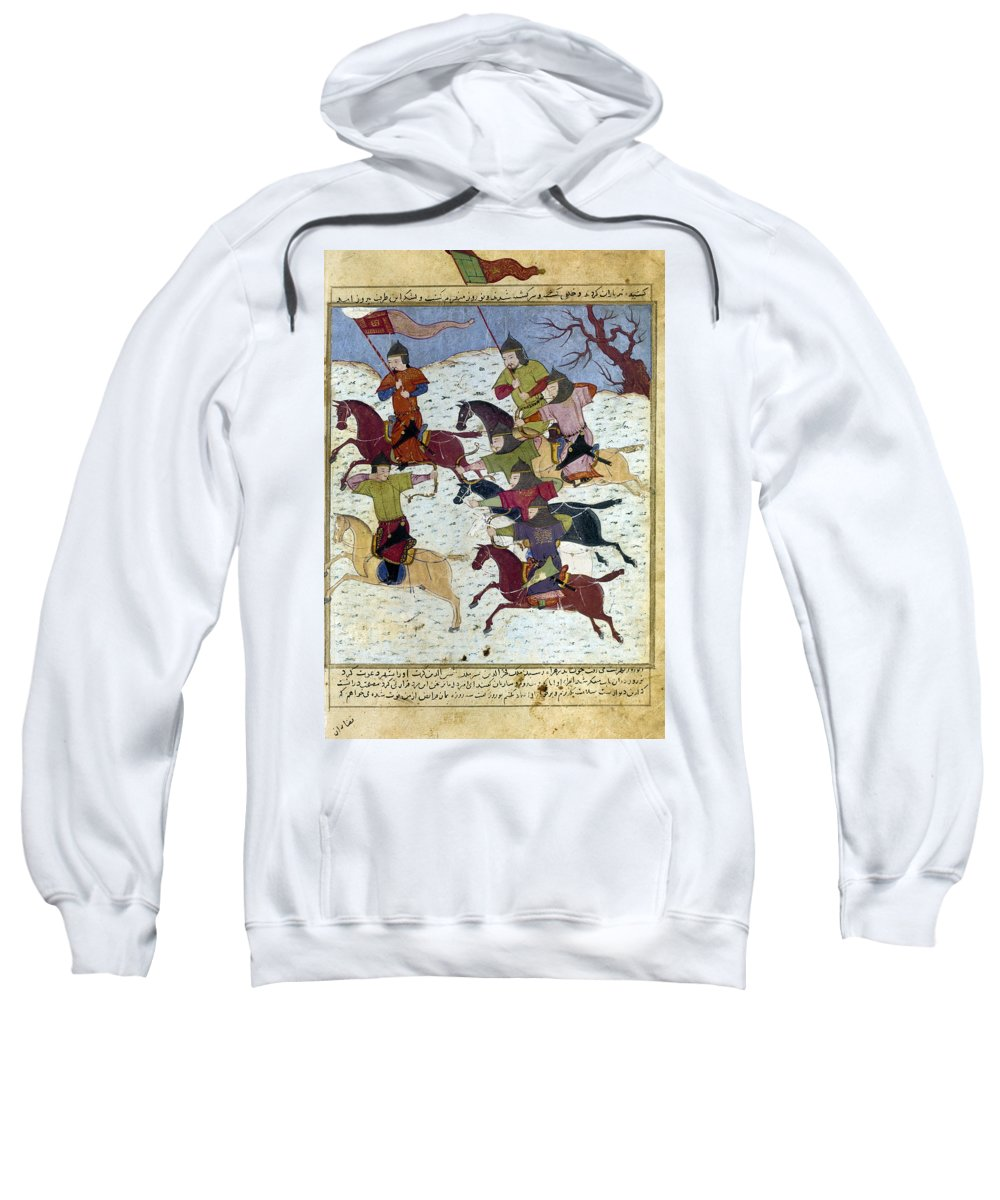 1400 Sweatshirt featuring the photograph Mongol Battle, C1400 by Granger