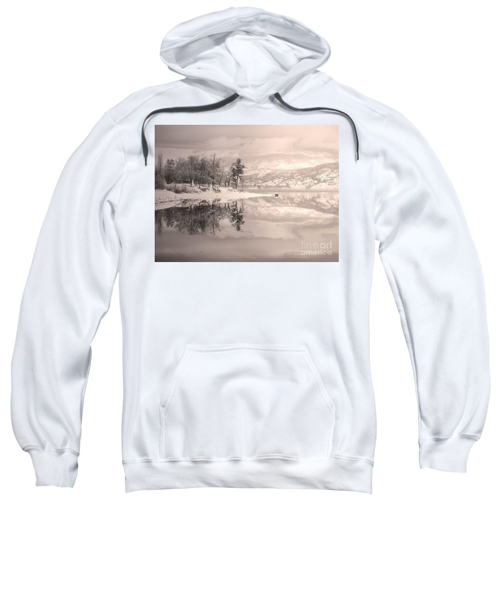 Winter Sweatshirt featuring the photograph Monotone Winter by Tara Turner