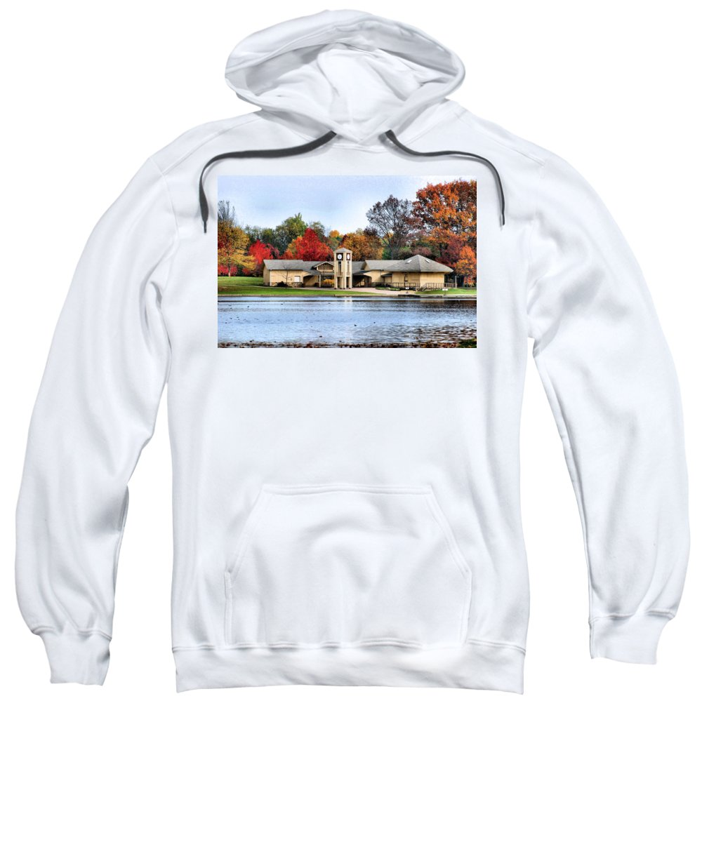 Monroe Falls State Park Sweatshirt featuring the photograph Monroe Falls Park by Kristin Elmquist