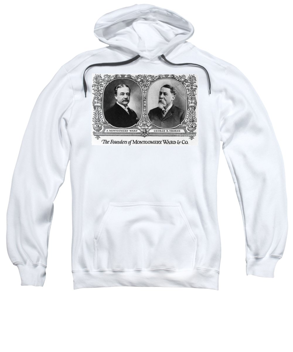 19th Century Sweatshirt featuring the photograph Montgomery Ward Founders by Granger