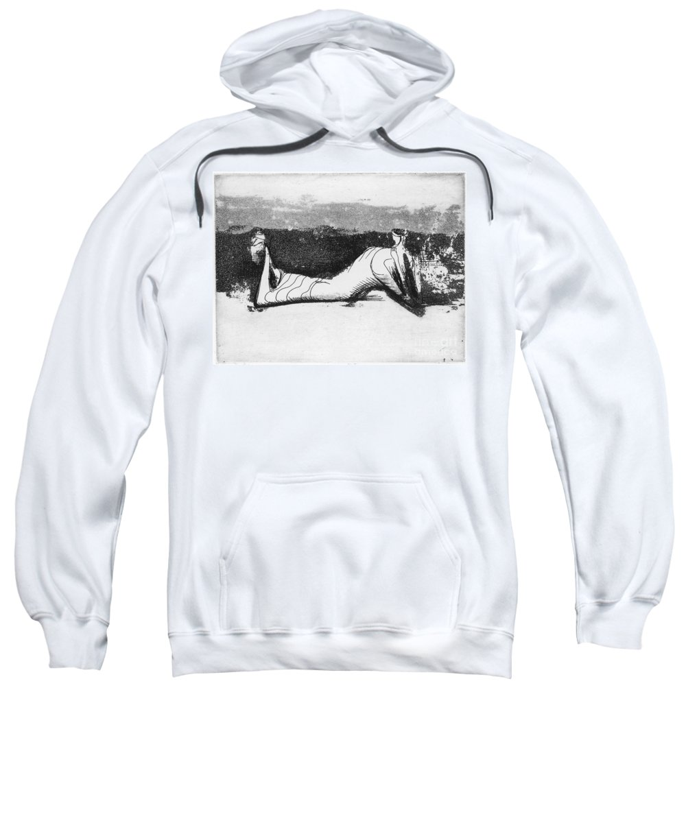 1951 Sweatshirt featuring the photograph Moore: Reclining Figure by Granger