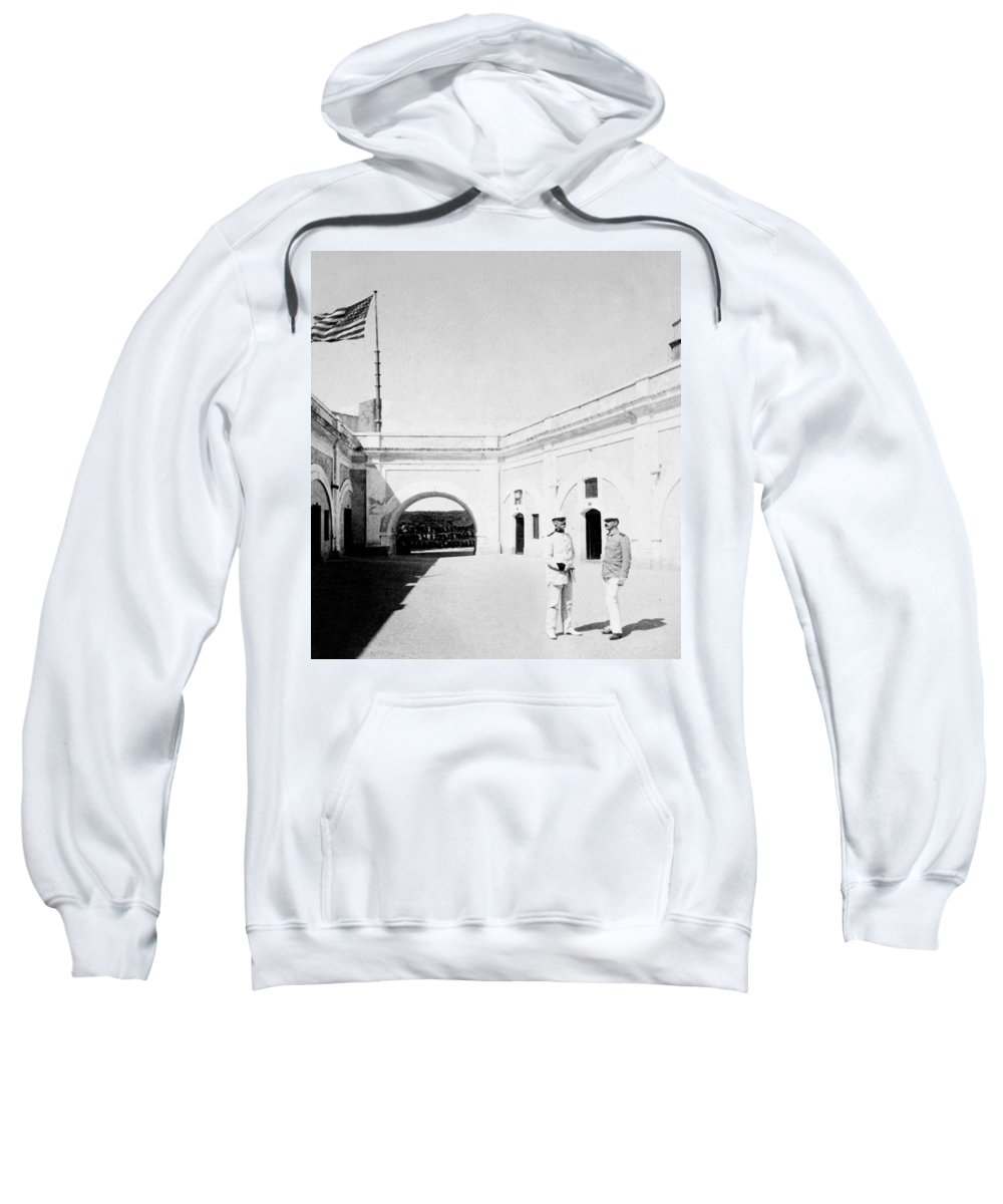 puerto Rico Sweatshirt featuring the photograph Morro Castle - Interior - San Juan - Puerto Rico - C 1900 by International Images