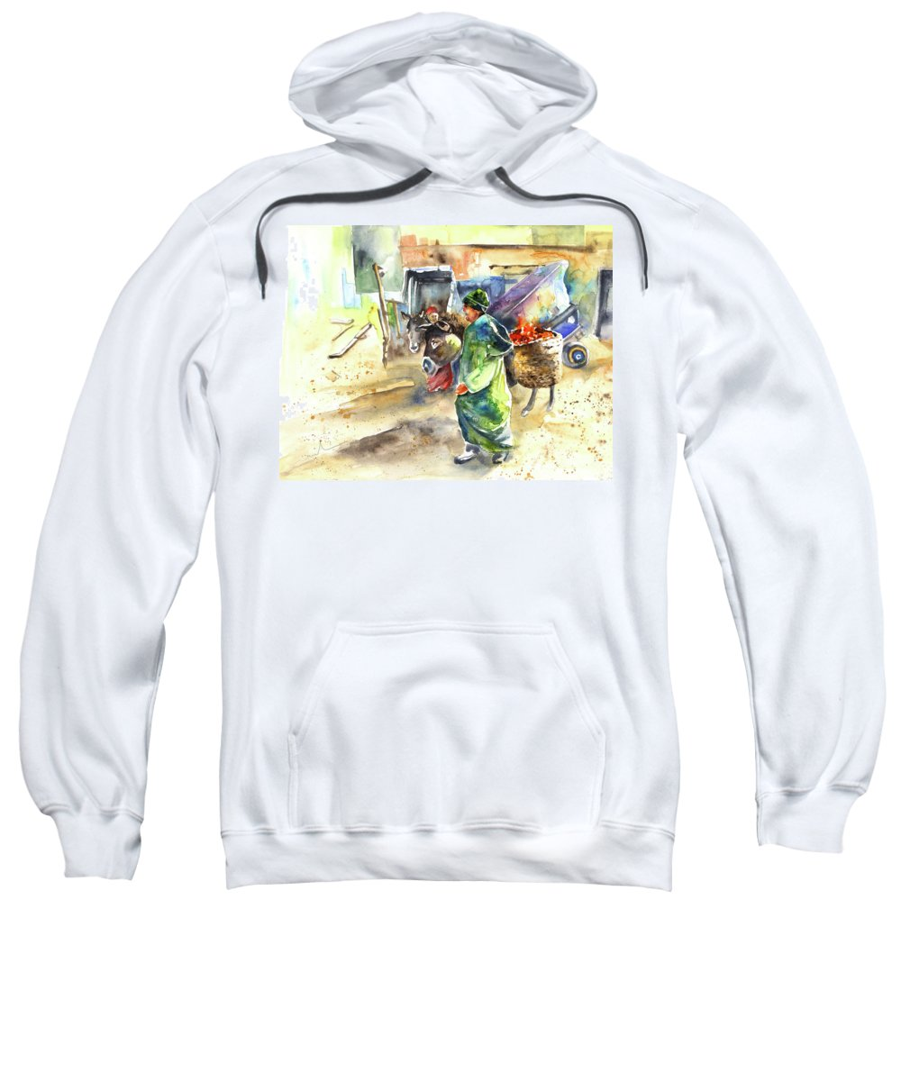 Travel Sweatshirt featuring the painting Morrocan Market 04 by Miki De Goodaboom