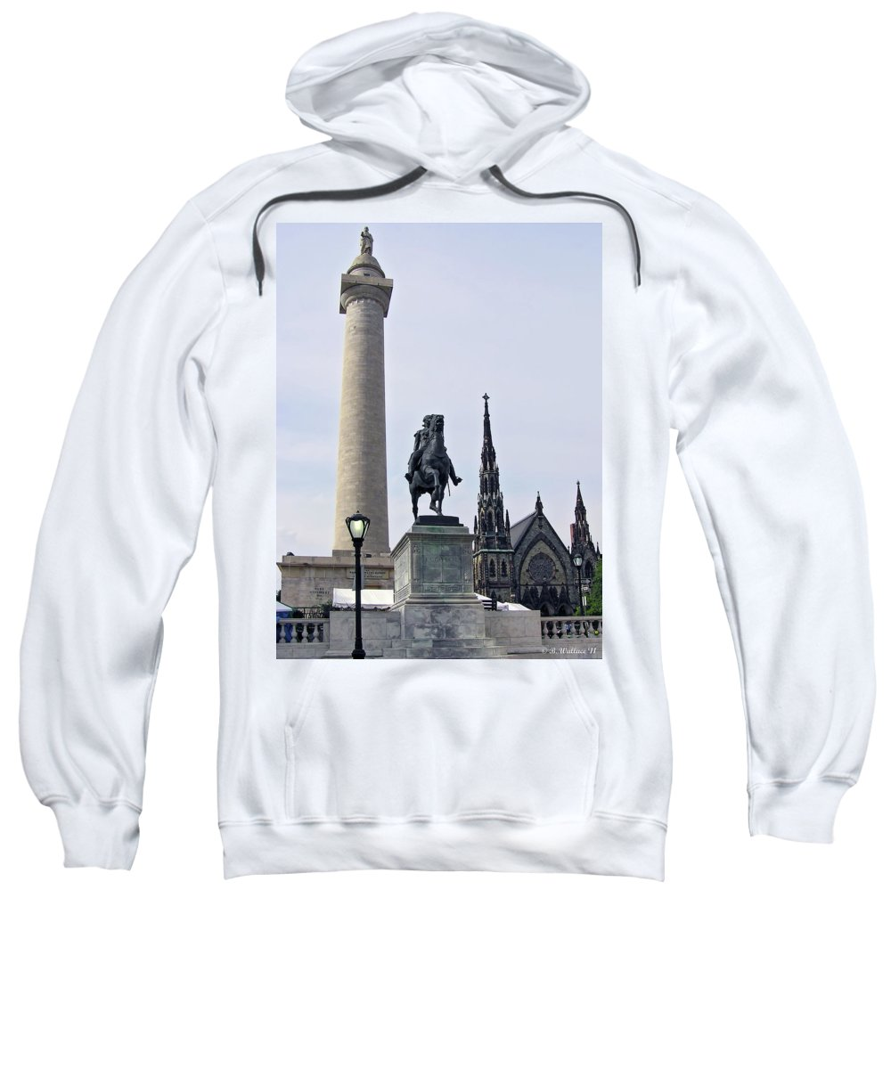 2d Sweatshirt featuring the photograph Mt. Vernon Landmarks by Brian Wallace
