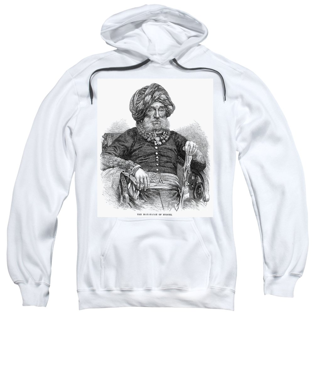 1867 Sweatshirt featuring the photograph Mummadi Krishnaraja Wadiyar by Granger