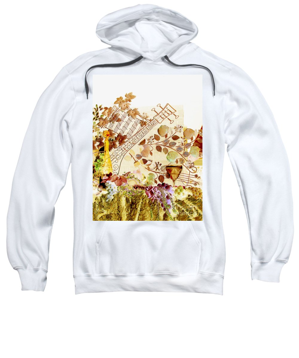 Music Sweatshirt featuring the photograph Music With Wine 2 by Anthony Wilkening