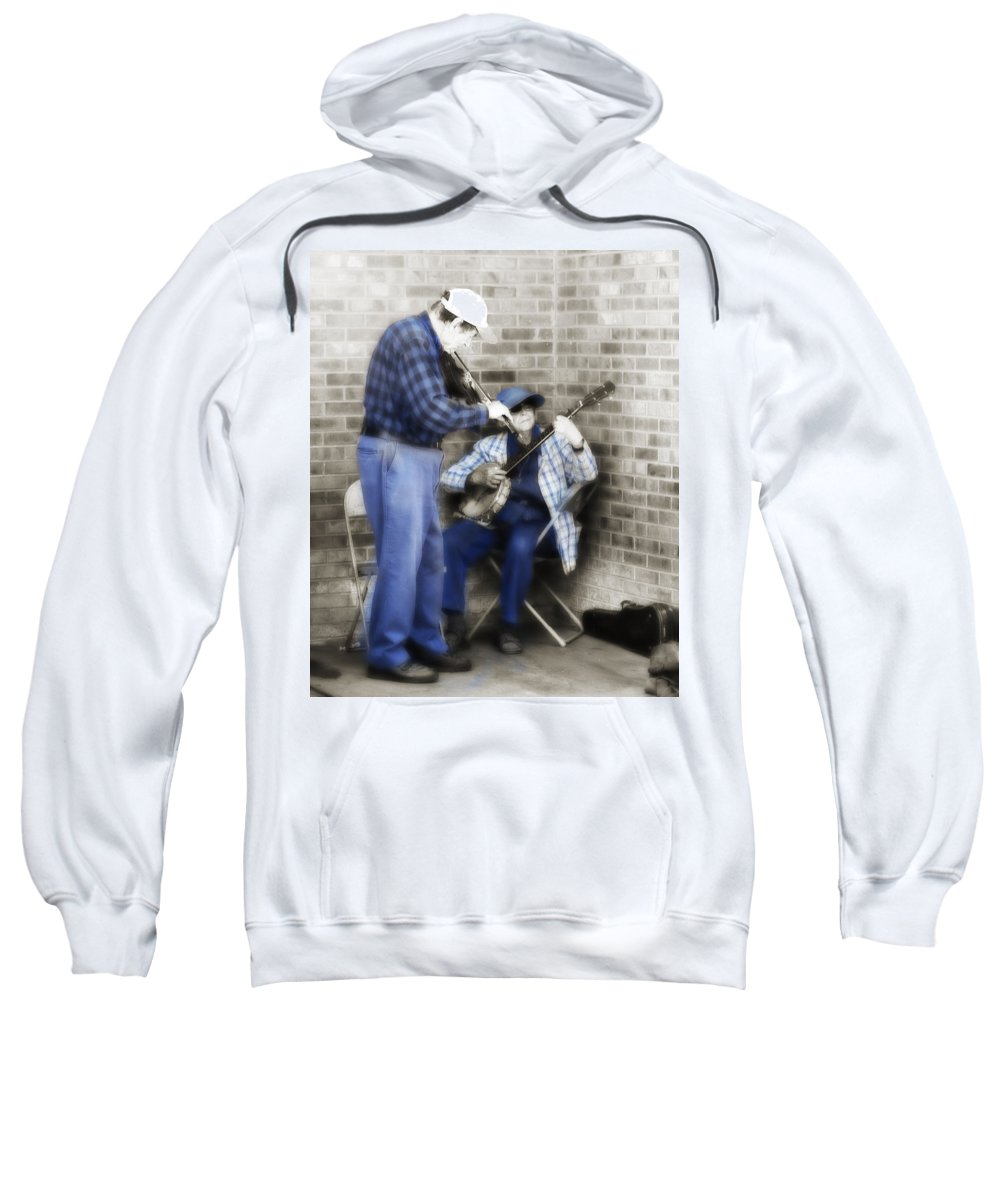 Music Sweatshirt featuring the photograph Musicians 2 by Marilyn Hunt
