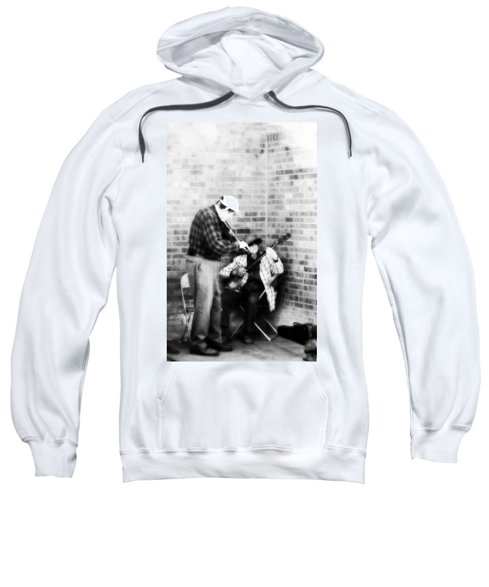 Music Sweatshirt featuring the photograph Musicians 4 by Marilyn Hunt