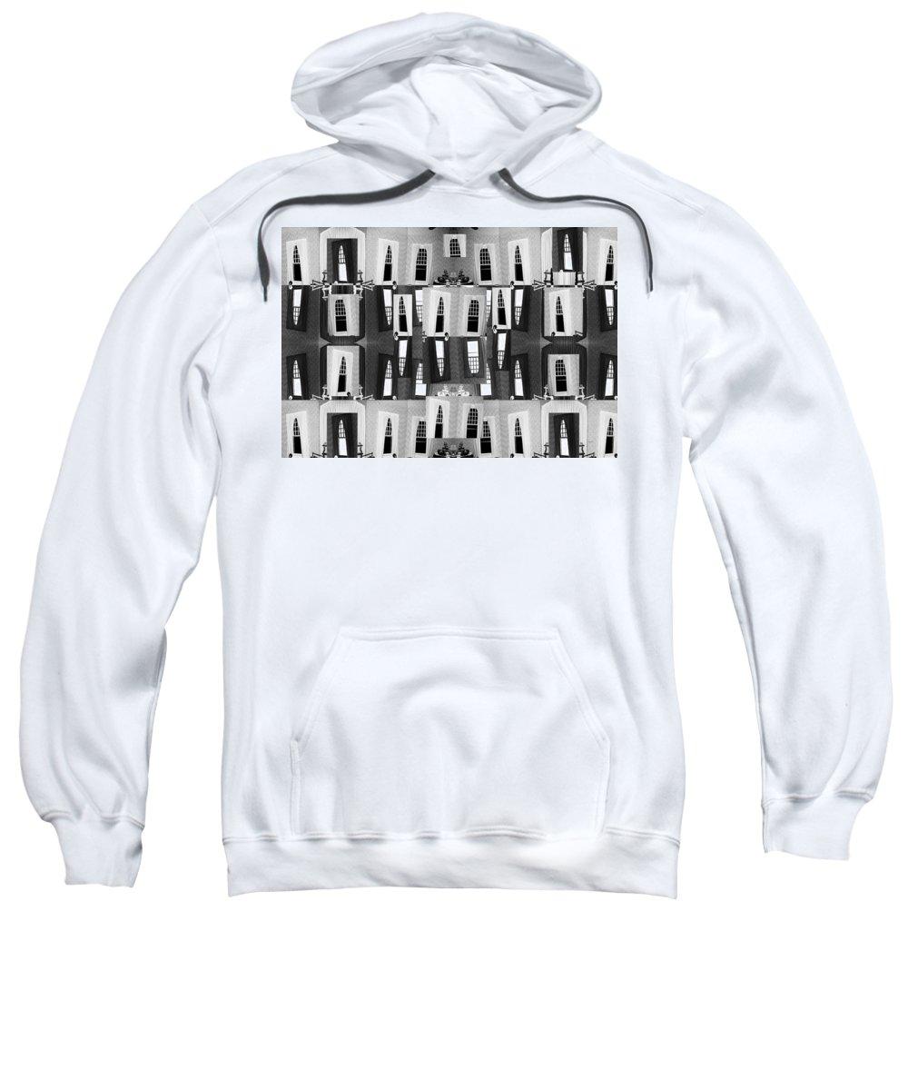 Black Sweatshirt featuring the digital art My Windows by Betsy Knapp