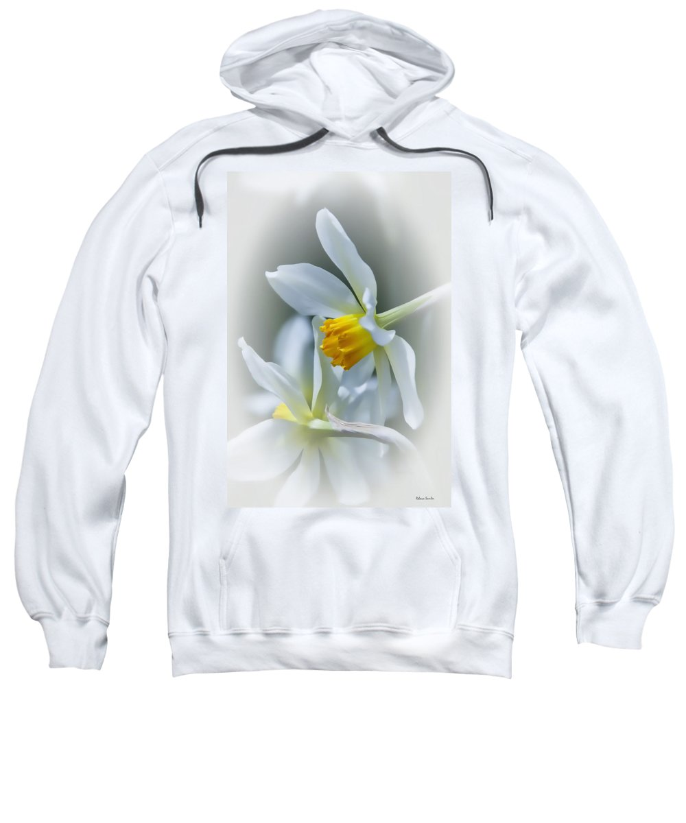 Narcissus Sweatshirt featuring the photograph Narcissus by Rebecca Samler