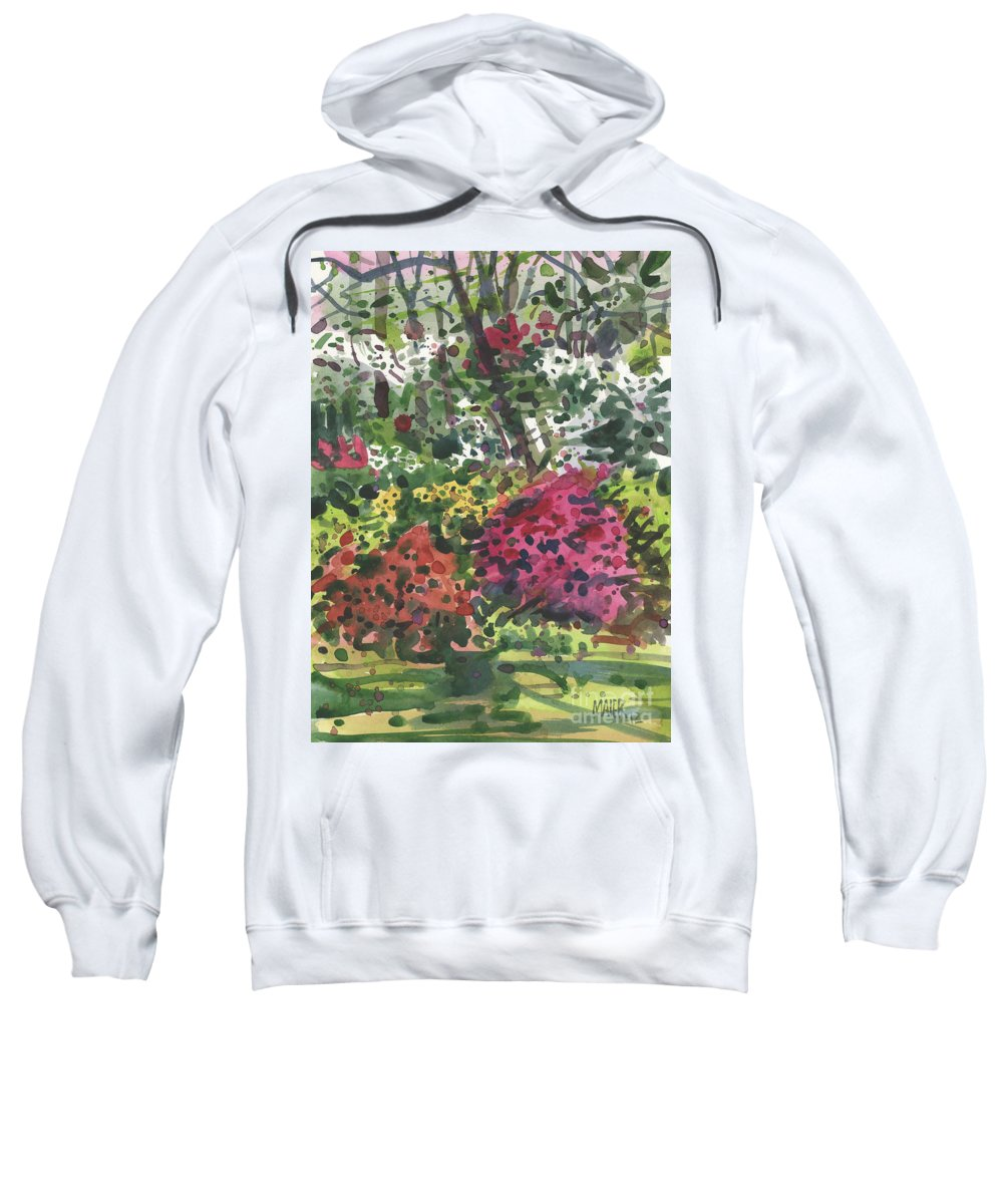 Chaos Sweatshirt featuring the painting Nature's Chaos by Donald Maier