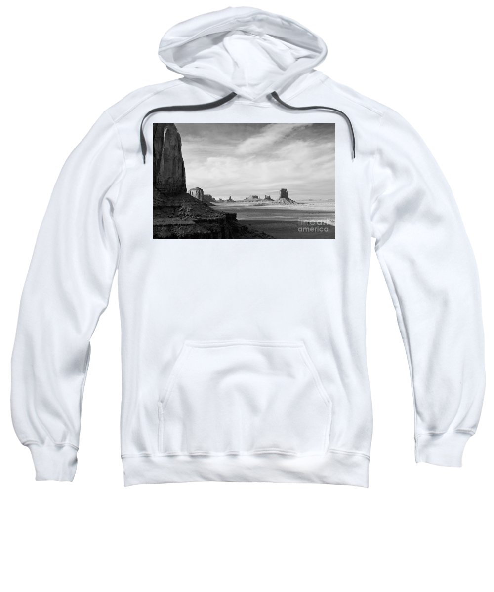 Serene Sweatshirt featuring the photograph Nature's Sculptures by Jim Chamberlain