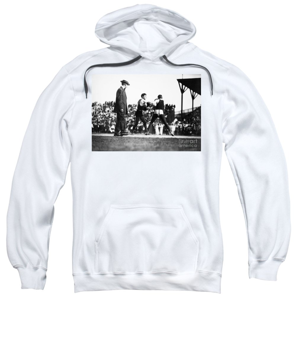 1902 Sweatshirt featuring the photograph Nelson Vs. Hurley, 1902 by Granger