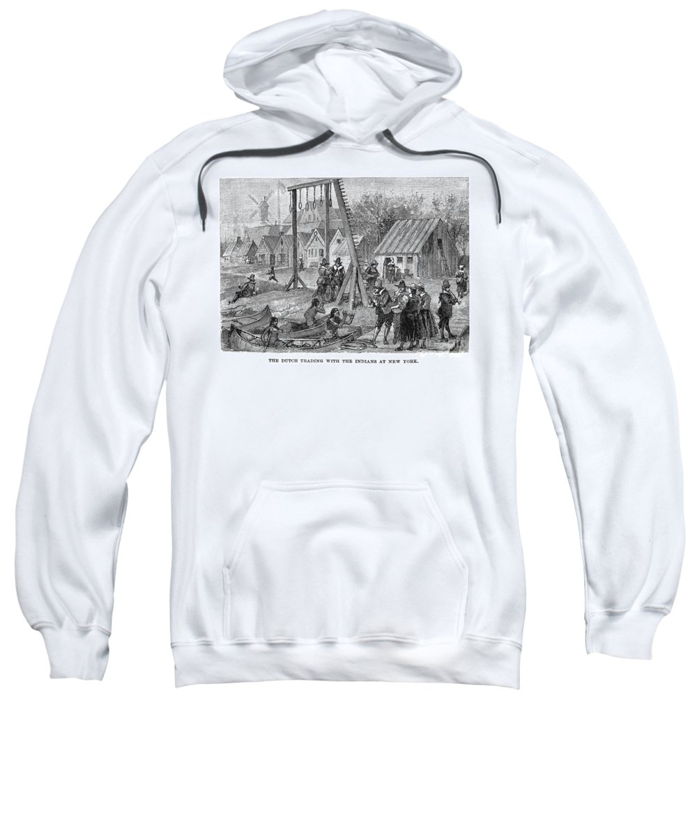 17th Century Sweatshirt featuring the photograph New Amsterdam: Trade by Granger