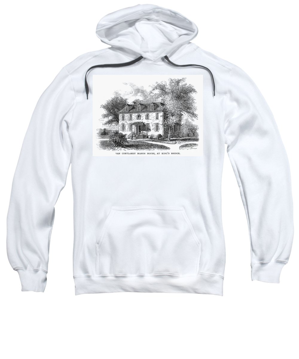 1748 Sweatshirt featuring the photograph New York Mansion, 1748 by Granger