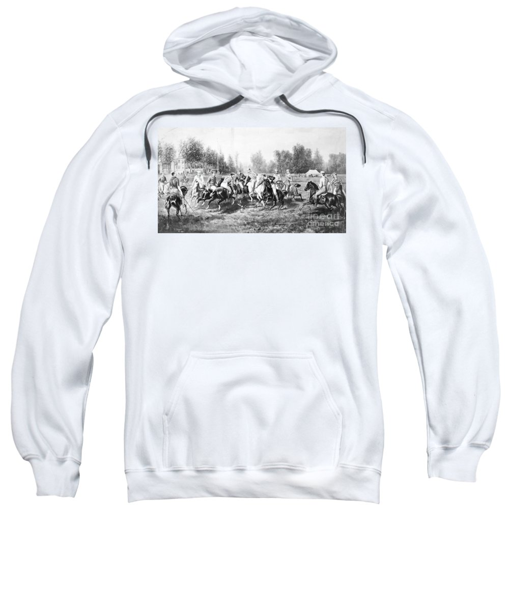 1877 Sweatshirt featuring the photograph New York: Polo Club, 1877 by Granger