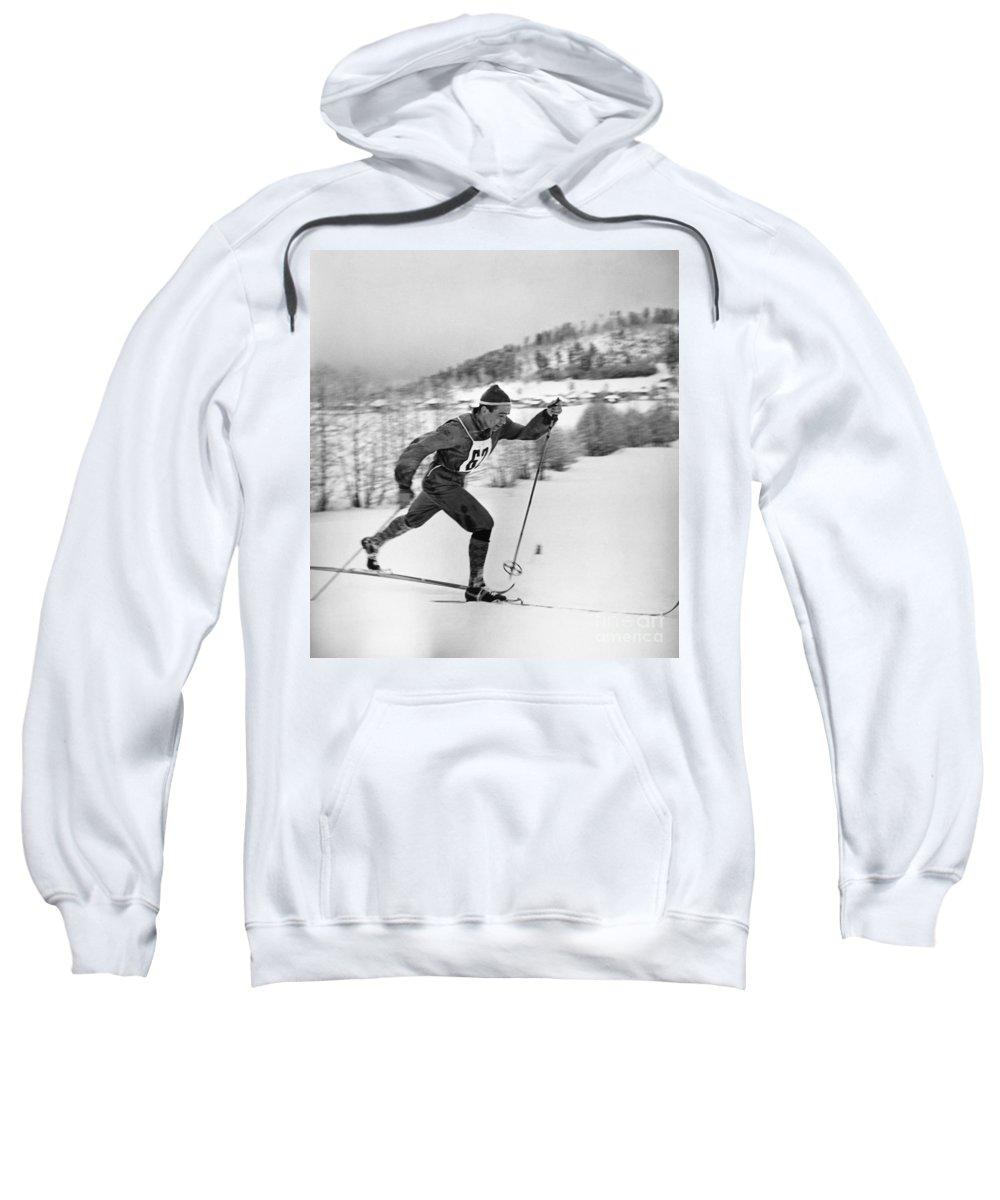 1960 Sweatshirt featuring the photograph Nikolay Petrovich Anikin (b. 1932) by Granger
