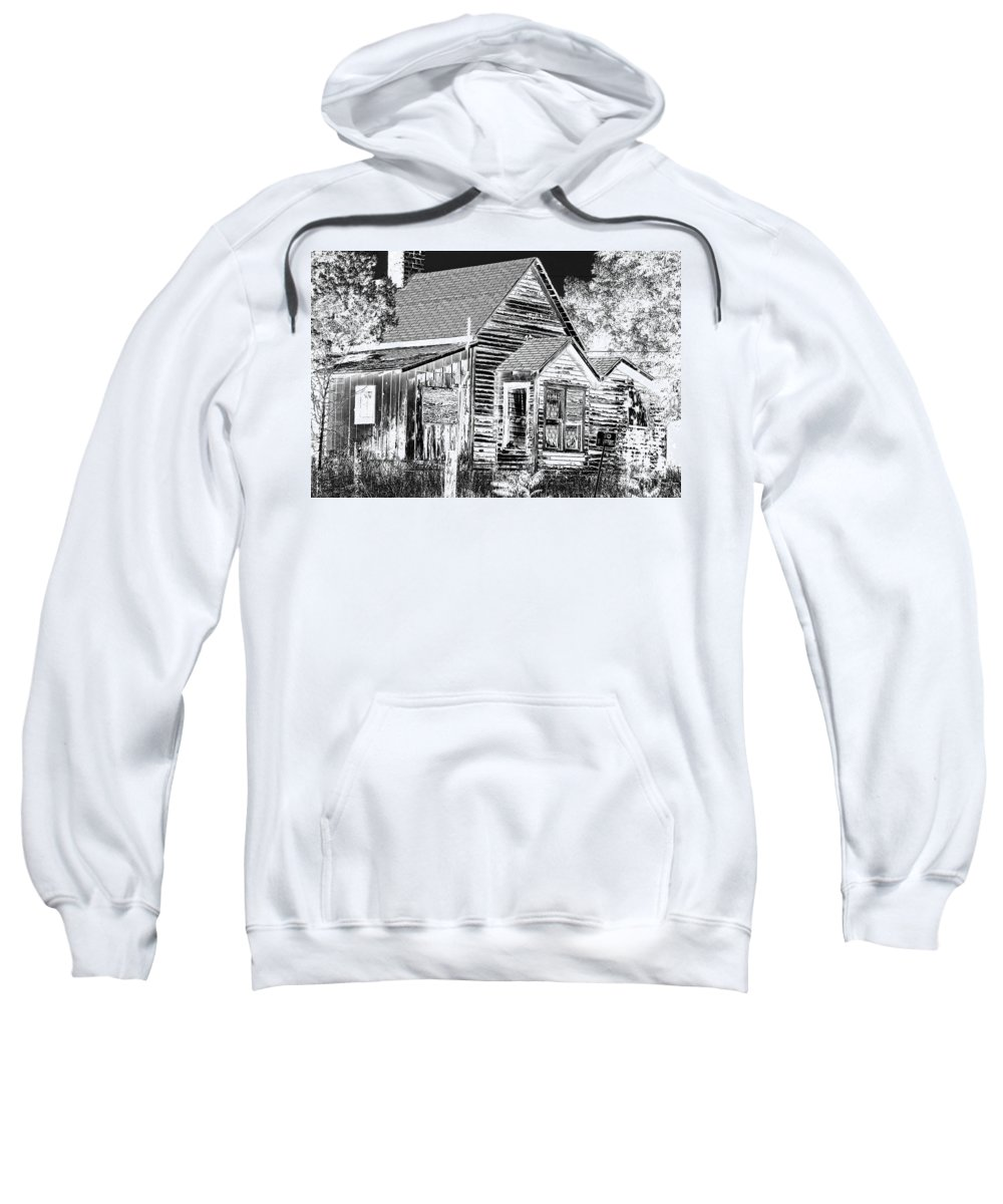 House Sweatshirt featuring the photograph No Trespassing by Phyllis Denton