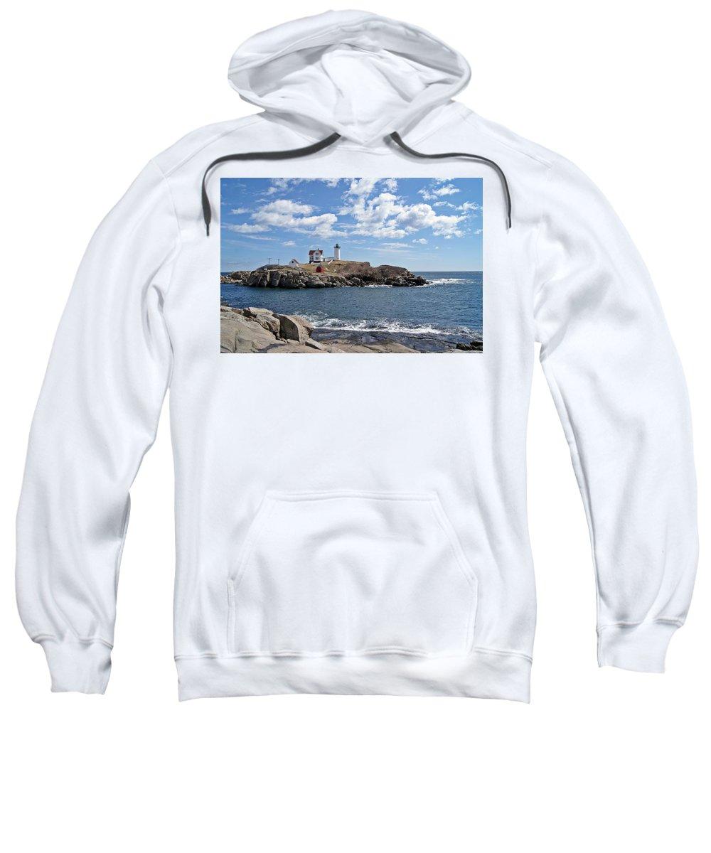 Nubble Light Sweatshirt featuring the photograph Nubble Light II by Joe Faherty