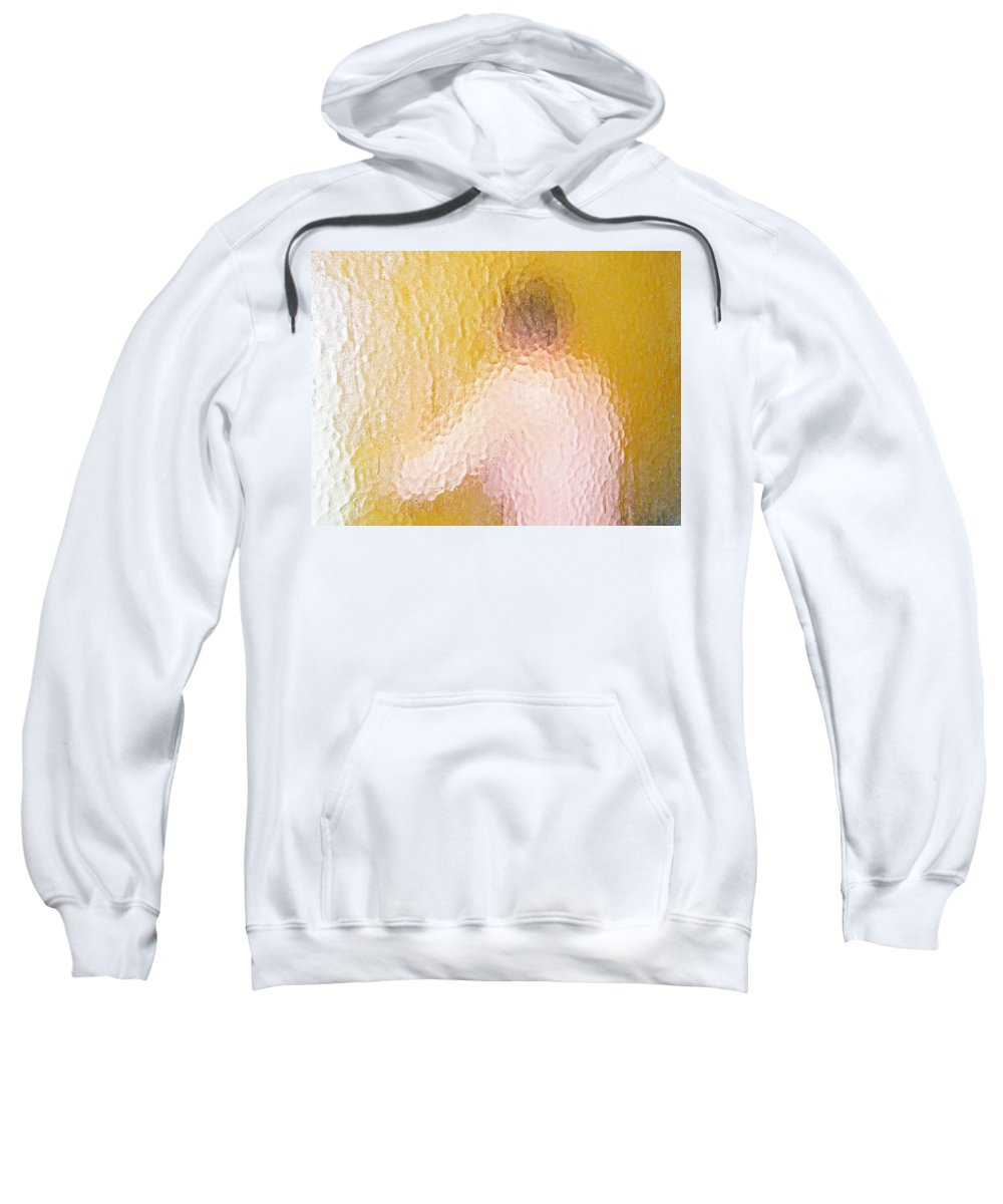 Abstract Sweatshirt featuring the digital art Nude Impression 22 by Lenore Senior