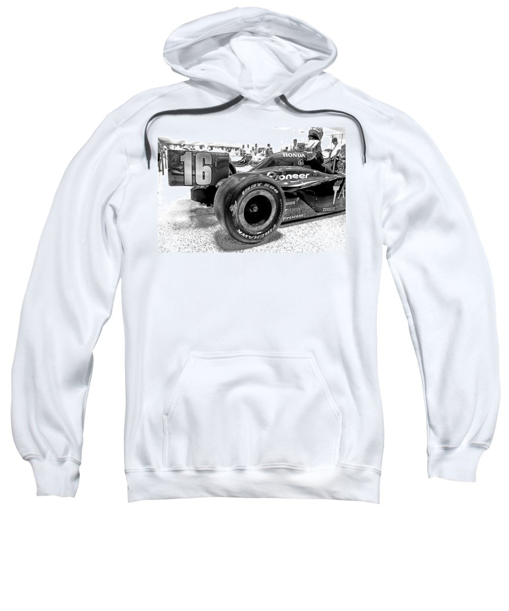 Indy Sweatshirt featuring the photograph Number 16 Indy by Lauri Novak