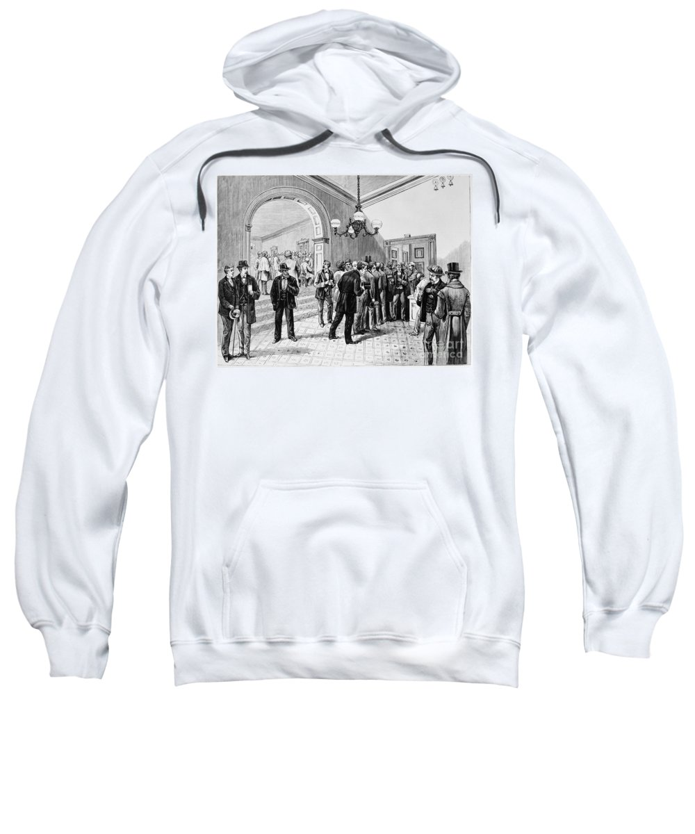1877 Sweatshirt featuring the photograph Office-seekers, 1877 by Granger