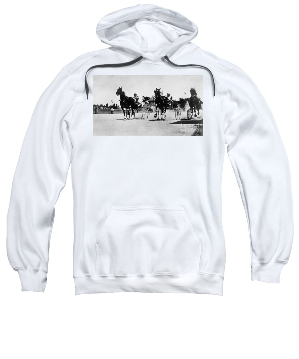 1904 Sweatshirt featuring the photograph Ohio: Horse Race, 1904 by Granger
