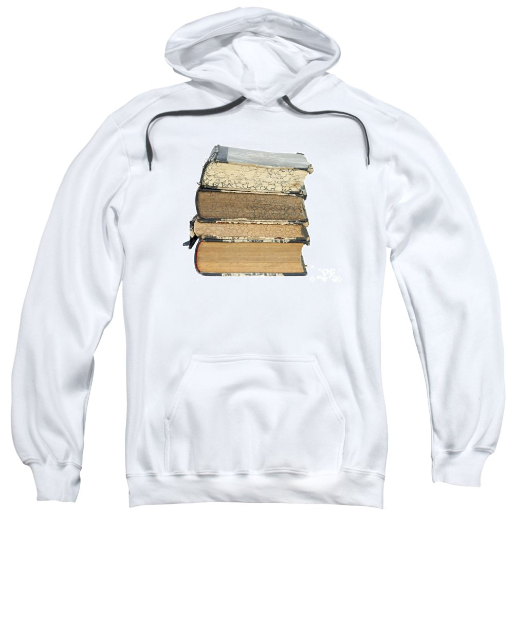 Book Sweatshirt featuring the photograph Old Books by Michal Boubin
