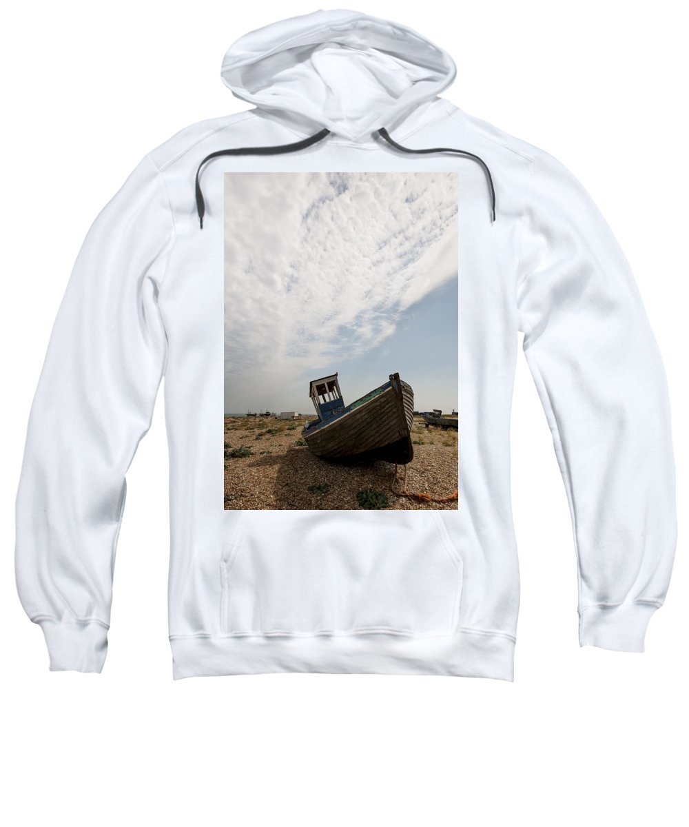 Boat Sweatshirt featuring the photograph Old Fishing Boats by Dawn OConnor
