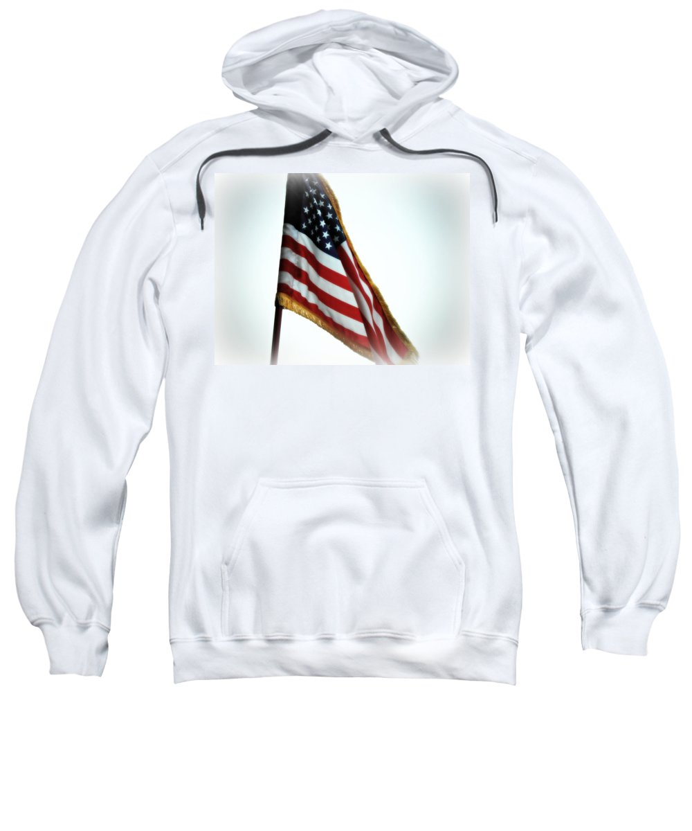 Flag Sweatshirt featuring the photograph Old Glory by Kimberly Perry
