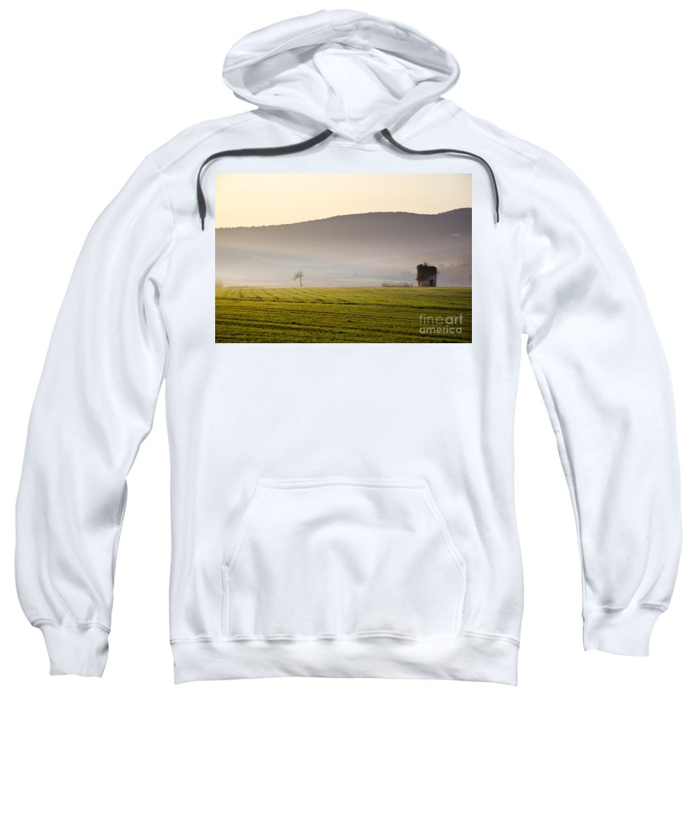 Old Sweatshirt featuring the photograph Old House On The Field by Mats Silvan