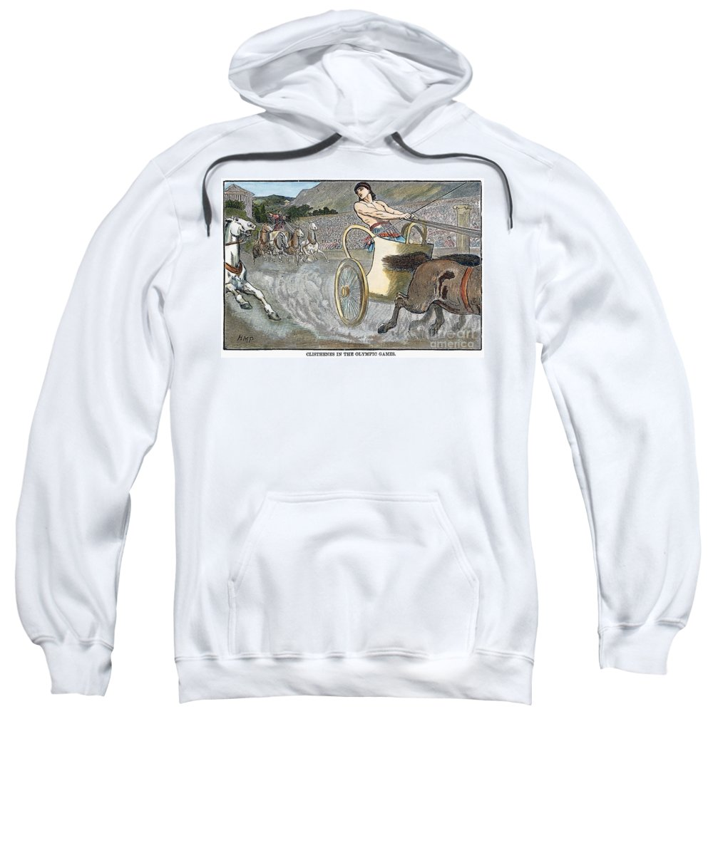 6th Century B.c Sweatshirt featuring the photograph Olympic Games, Antiquity by Granger