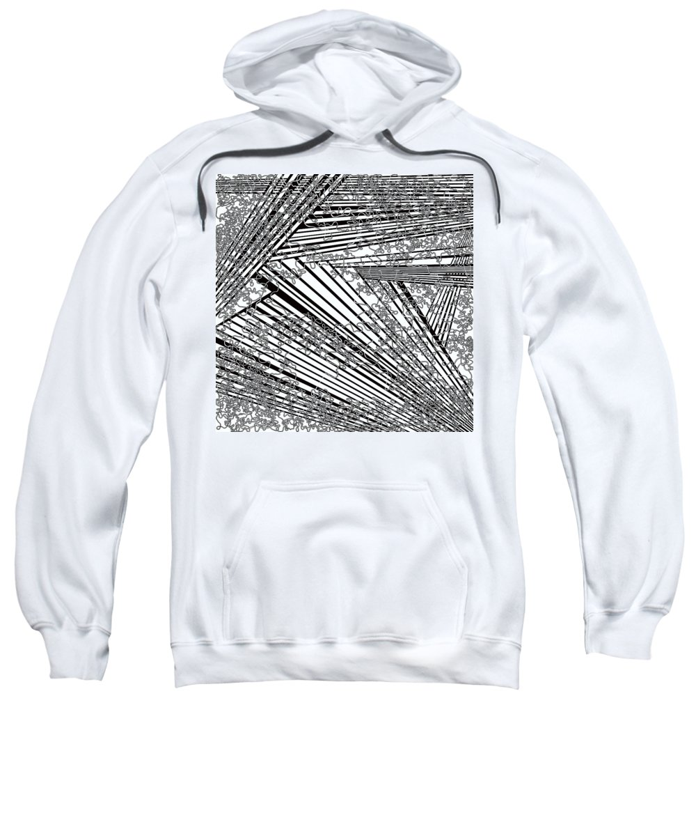 Meditation Labyrinth Sweatshirt featuring the painting One 21 by Douglas Christian Larsen