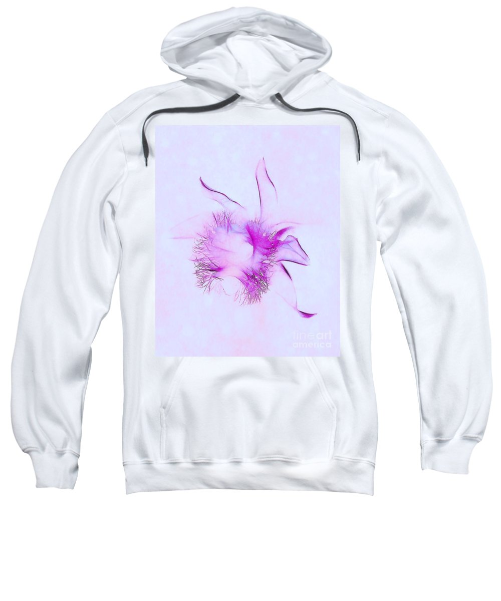 Orchid Sweatshirt featuring the photograph Orchid Impression by Judi Bagwell