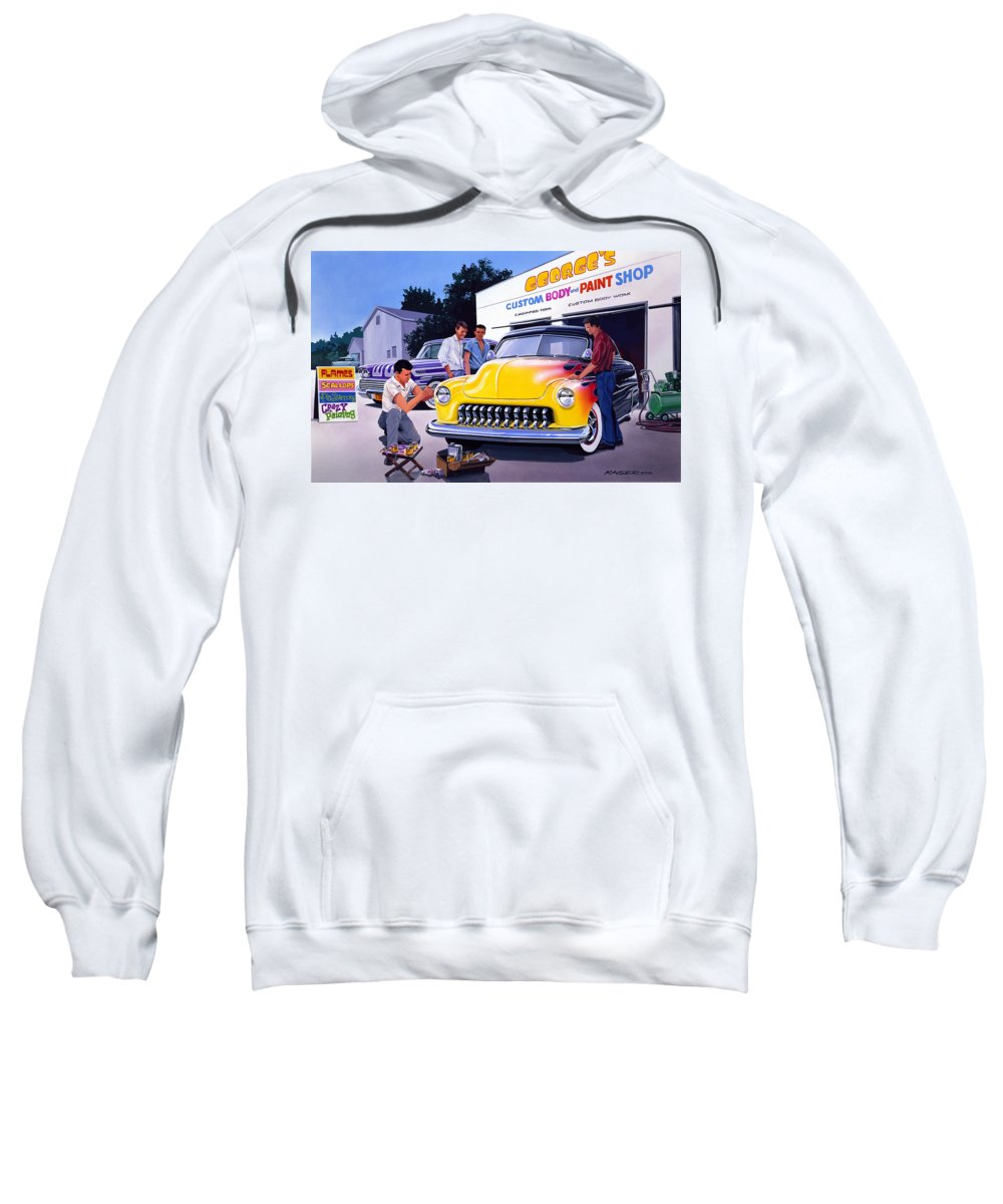 Adult Sweatshirt featuring the photograph Paint Shop by Bruce Kaiser