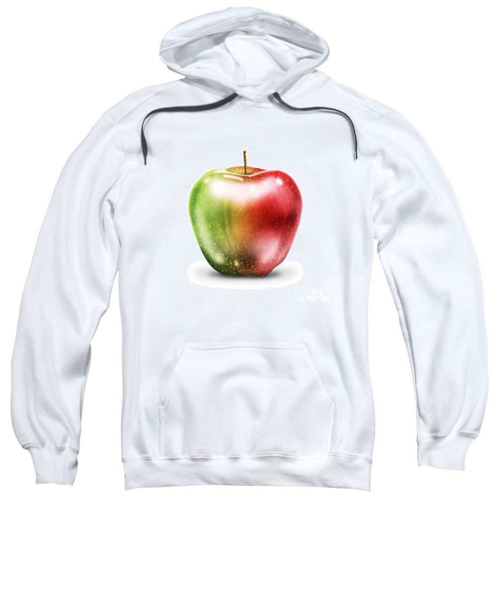 Agriculture Sweatshirt featuring the painting Painting Of Apple by Setsiri Silapasuwanchai